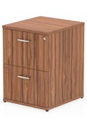 Nova Walnut 2 Drawer Filing Cabinet