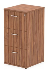 Nova Walnut 3 Drawer Filing Cabinet