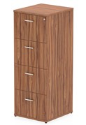Nova Walnut 4 Drawer Filing Cabinet