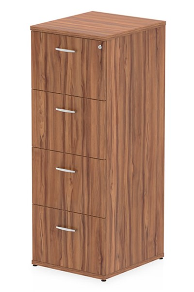 Nova Walnut 4 Drawer Filing Cabinet