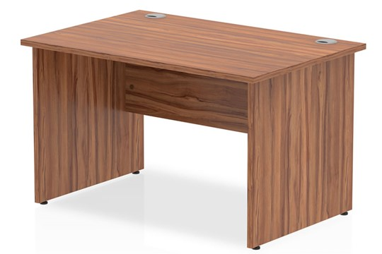 Nova Walnut Rectangular Panel End Desk