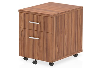 Nova Walnut 2 Drawer Mobile Pedestal