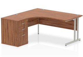 Nova Walnut Cantilever Workstation