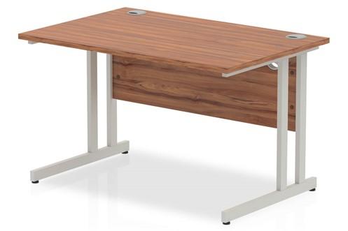 Nova Walnut  Rectangular Cantilever Desk