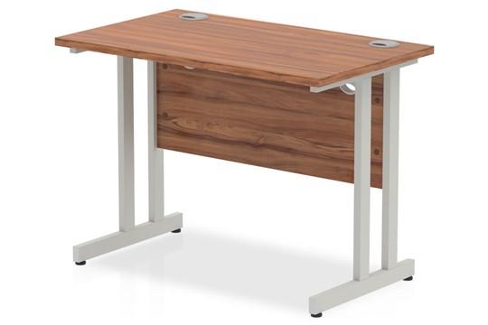 Nova Walnut Small Cantilever Desk