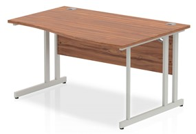 Nova Walnut Cantilever Wave Desk