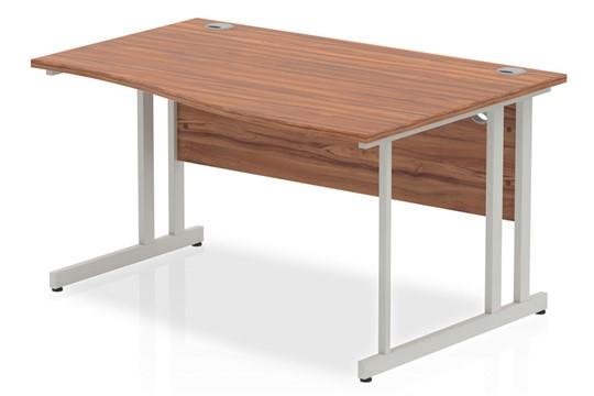 Nova Walnut Cantilever Wave Desk