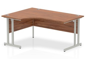 Nova Walnut Cantilever Crescent Desk