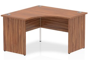 Nova Walnut Corner Panel Leg Desk