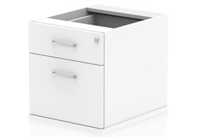 Polar White Fixed Pedestal - 2 Drawer