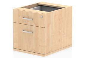 Solar Maple Fixed Pedestal - 2 Drawer
