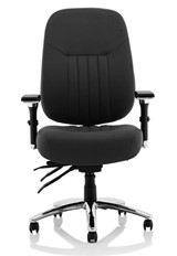 Barcelona Fabric Office Chair - Black