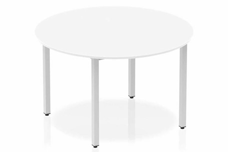Polar White Circle Table 1200 Post Leg