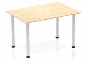 Solar Maple Straight Table Post Leg Silver