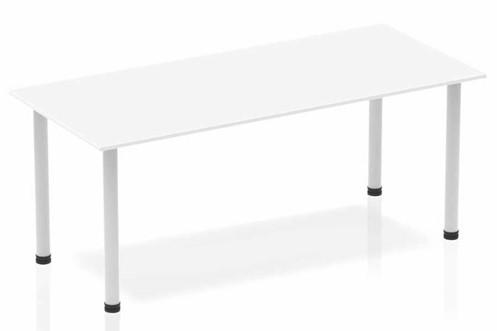Polar White Straight Table Post Leg
