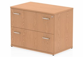 Norton Oak 2 Drawer Desk High Side Filer