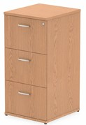 Norton Oak 3 Drawer Filing Cabinet