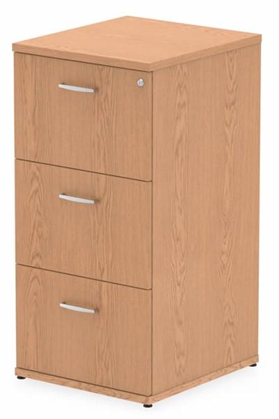 Norton Oak 3 Drawer Filing Cabinet