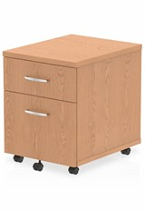 Norton Oak 2 Drawer Mobile Pedestal