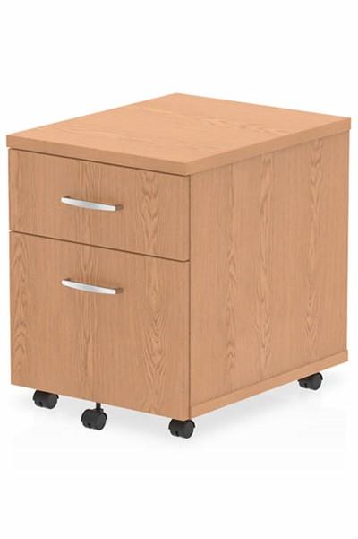 Norton Oak 2 Drawer Mobile Pedestal