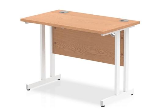 Norton Oak Return Cantilever Desk