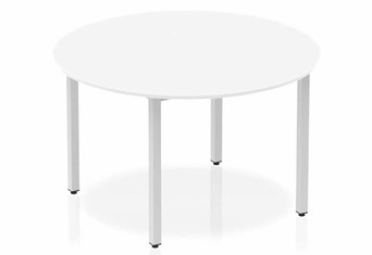 Polar White 1200 Circle Table Box Frame Leg