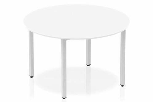 Polar White 1200 Circle Table Box Frame Leg