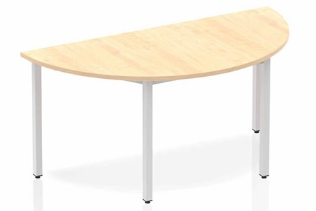 Solar Maple Semi-circle Table 1600 Box Frame Leg Silver