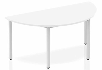 Polar White Semi-circle Table 1600 Box Frame Leg