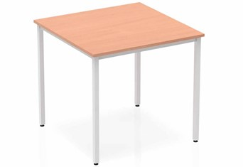 Price Point Beech Straight Table Box Frame Leg Silver - 800mm