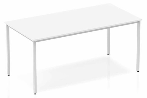 Polar White Straight Table Box Frame Leg