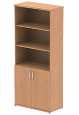 Norton Oak Open Shelf Cupboard