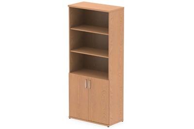 Norton Oak Open Shelf Cupboard