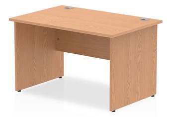 Norton Oak Rectangular Panel End Desk - 1200mm x 600mm