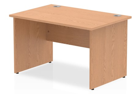 Norton Oak Rectangular Panel End Desk