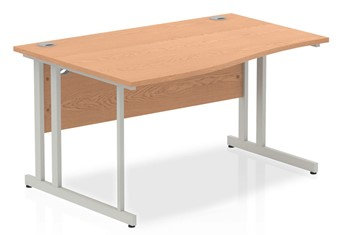 Norton Oak Cantilever Wave Desk - 1400mm x 600mm Left Handed