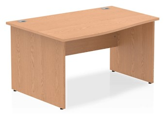 Norton Oak Wave Desk - 1400mm 600mm Left Handed