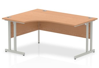 Norton Oak Cantilever Corner Desk - Left Handed 1600mm