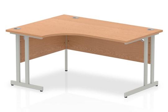 Norton Oak Cantilever Corner Desk