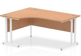 Norton Oak Cantilever Corner Desk