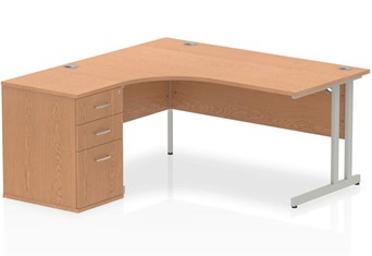 Norton Oak Cantilever Workstation - Left Handed 1600mm