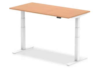 Norton Oak Height Adjustable Desk - 1200mm