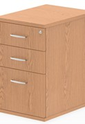 Norton Oak 3 Drawer Desk High Pedestal