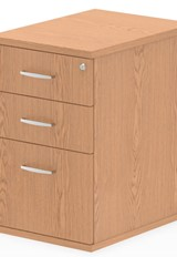 Norton Oak 3 Drawer Desk High Pedestal - 600mm