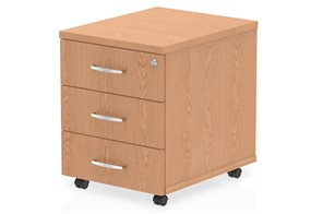 Norton Oak 3 Drawer Mobile Pedestal