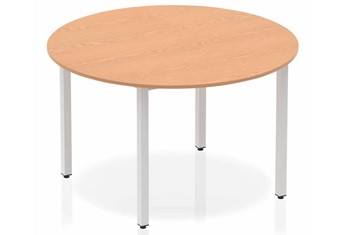 Norton Oak Circle Table 1200 Post Leg