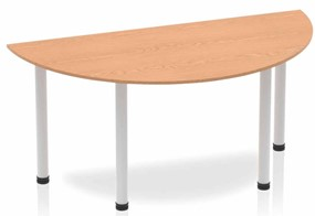 Norton Oak Semi-circle Table 1600 Post Leg