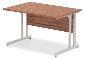 Nova Walnut  Rectangular Cantilever Desk - Left Handed 1200mm x 600mm