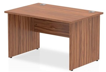 Nova Walnut Rectangular Panel End Desk - 1200mm x 600mm
