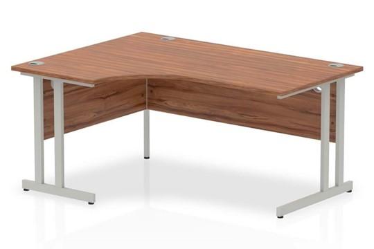 Nova Walnut Cantilever Corner Desk
